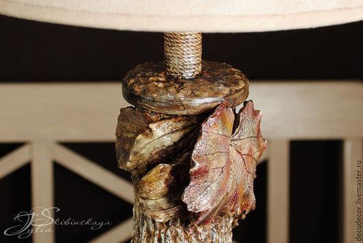 """Освещение ручной работы. Ярмарка Мастеров - ручная работа. Купить Лампа """"Осенний вальс"""". Handmade. Бежевый, светильник ручной работы"""