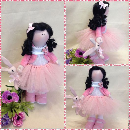 Куклы тыквоголовки ручной работы. Ярмарка Мастеров - ручная работа. Купить Интерьерная кукла.Текстильная кукла.. Handmade. Бледно-розовый