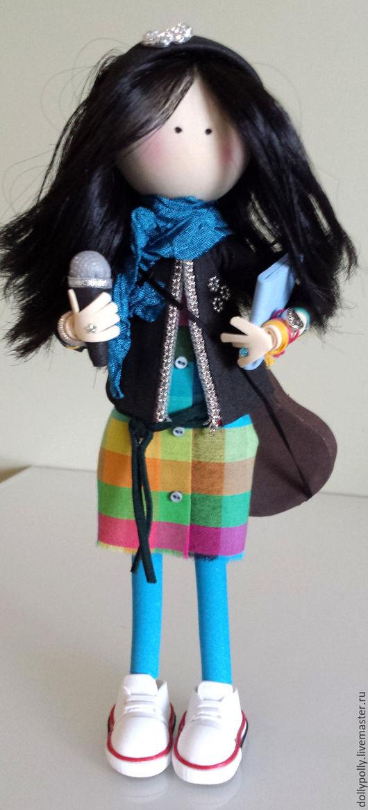 Коллекционные куклы ручной работы. Ярмарка Мастеров - ручная работа. Купить Кэтти-зачарованная музыкой. Handmade. Комбинированный, микрофон, фоамиран