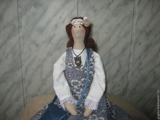 Куклы Тильды ручной работы. Ярмарка Мастеров - ручная работа. Купить Тильда в стиле бохо. Handmade. Серый, tildashop, хлопок