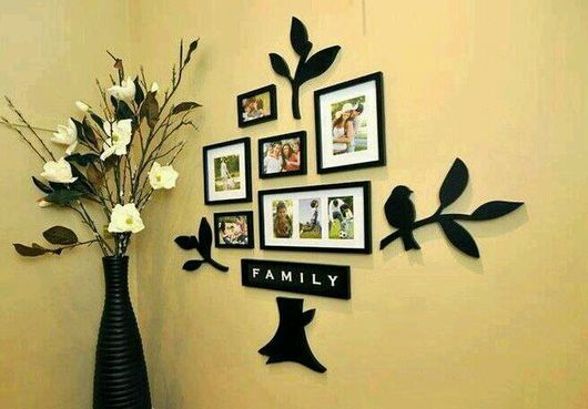 """Свадебные фотоальбомы ручной работы. Ярмарка Мастеров - ручная работа. Купить Стена дерево """"FAMILY"""".натуральное дерево.лазерная резка.. Handmade."""
