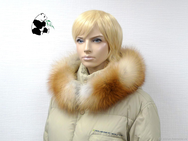 Detachable fur trimmed on the hood of fur Siberian red Fox, Collars, Ekaterinburg,  Фото №1