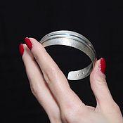 Украшения handmade. Livemaster - original item Minima Series Cone Cuff Bracelet in ASH0014 combination silver. Handmade.