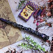 Субкультуры handmade. Livemaster - original item The author`s Magic wand Harry Potter cosmos purple. Handmade.