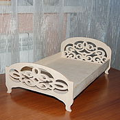 Материалы для творчества handmade. Livemaster - original item Dollhouse double bed.251.. Handmade.