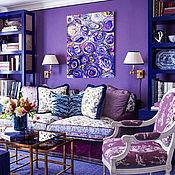 Картины и панно handmade. Livemaster - original item Abstract painting in a modern interior Purple agates. Handmade.