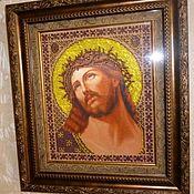 Иконы ручной работы. Ярмарка Мастеров - ручная работа Иисус Христос в терновом венце. Handmade.