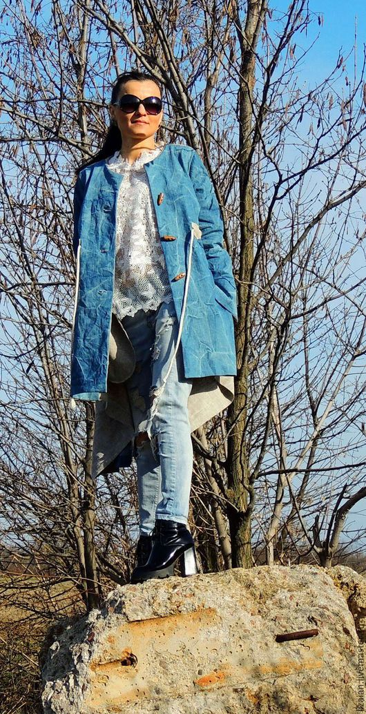 бохо, стиль бохо, бохо пальто, пальто бохо, пальто летнее, летнее пальто, джинсовое пальто, пальто из льна