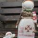 """Народные куклы ручной работы. Ярмарка Мастеров - ручная работа. Купить Кукла народная оберег """"Мамушка"""". Handmade. Зеленый"""