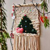 Сувениры и подарки handmade. Livemaster - original item Fabric panel Christmas tree or Santa Claus. Handmade.