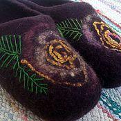 """Обувь ручной работы. Ярмарка Мастеров - ручная работа Тапочки женские """"Розы"""". Handmade."""