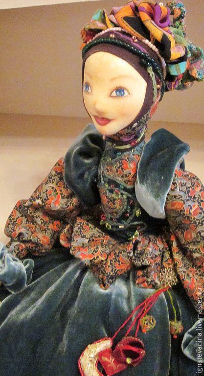 Коллекционные куклы ручной работы. Ярмарка Мастеров - ручная работа. Купить Сочельник. Handmade. Морская волна, бархат