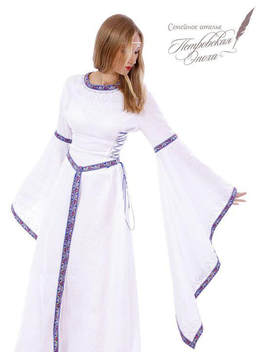 """Платья ручной работы. Ярмарка Мастеров - ручная работа. Купить Платье средневековое ,,невеста"""". Handmade. Средневековое платье, белое платье"""