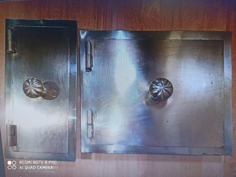 Латунная дверь старинная комплект 2 шт, Двери, Санкт-Петербург,  Фото №1