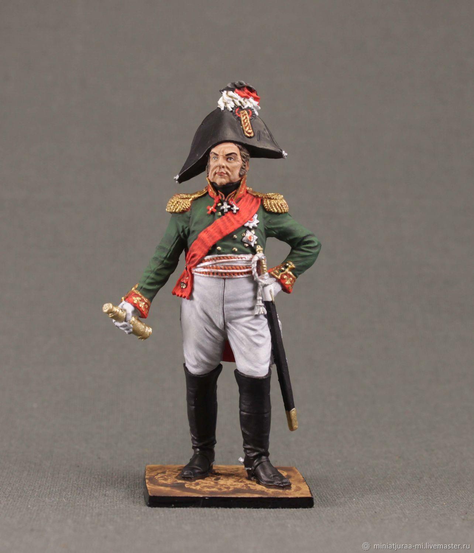 Napoleonic wars. Soldier 54 mm. Russia, 1812, Military miniature, St. Petersburg,  Фото №1