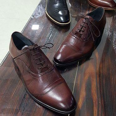 Обувь ручной работы. Ярмарка Мастеров - ручная работа Оксфорды. Handmade.
