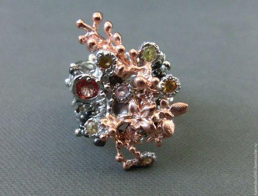 Кольца ручной работы. Ярмарка Мастеров - ручная работа. Купить 17,5 р-р кольцо сапфир серебро 925 золото. Handmade.
