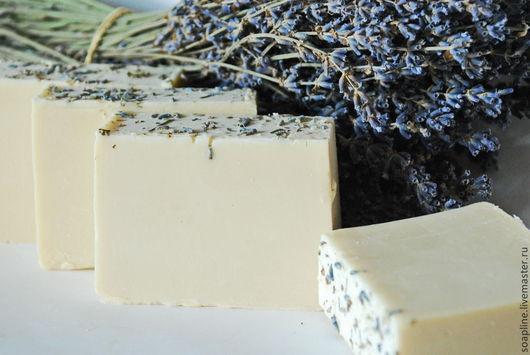 """Мыло ручной работы. Ярмарка Мастеров - ручная работа. Купить """"Молочная лаванда"""" натуральное мыло с нуля ручной работы. Handmade."""