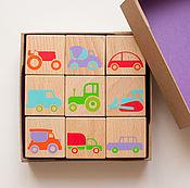 Куклы и игрушки handmade. Livemaster - original item Wooden kids blocks with pictures. Handmade.