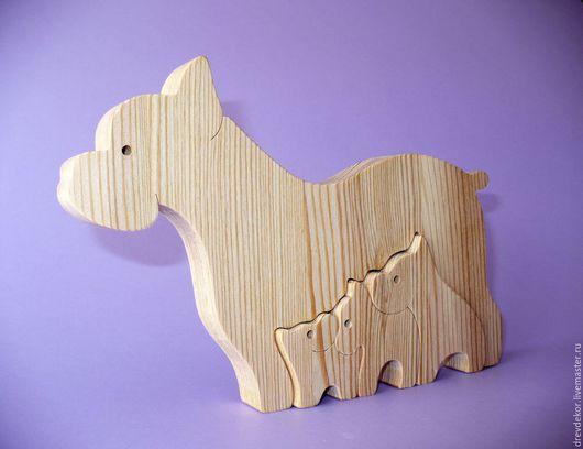 Игрушки животные, ручной работы. Ярмарка Мастеров - ручная работа. Купить пазлы собачки №7. Handmade. Комбинированный, сувениры из дерева