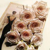 """Свадебный салон ручной работы. Ярмарка Мастеров - ручная работа Шпильки """"Кремовые розы"""". Handmade."""