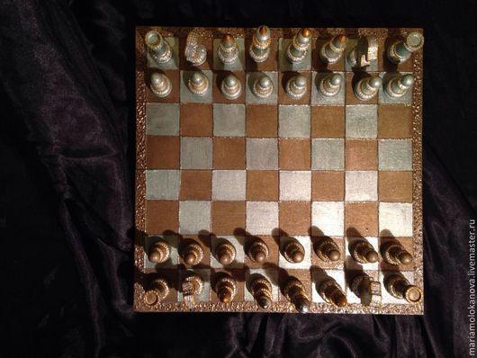 """Персональные подарки ручной работы. Ярмарка Мастеров - ручная работа. Купить Шахматы """"queen"""". Handmade. Разноцветный, шахматы в подарок"""