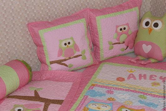 Пледы и одеяла ручной работы. Ярмарка Мастеров - ручная работа. Купить Комплект в детскую комнату  для  девочки. Handmade. Розовый, пуфик