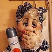 Держатели ручной работы. Ярмарка Мастеров - ручная работа Держатель для туалетной бумаги газетница. Handmade.