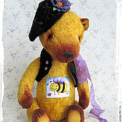 Куклы и игрушки ручной работы. Ярмарка Мастеров - ручная работа Жужа из Лавандового королевства - коллекционный плюшевый мишка. Handmade.