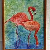 Картины и панно ручной работы. Ярмарка Мастеров - ручная работа Фламинго. Handmade.