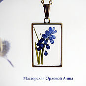 Украшения handmade. Livemaster - original item Transparent pendant with real flowers. Ornaments from resin. Handmade.