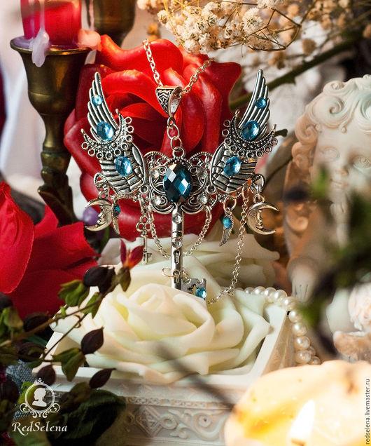 """Кулоны, подвески ручной работы. Ярмарка Мастеров - ручная работа. Купить Кулон-ключ """"Snow Queen"""". Handmade. Голубой, талисман"""