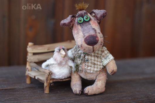 Мишки Тедди ручной работы. Ярмарка Мастеров - ручная работа. Купить Тотошка и Икоко. Handmade. Бежевый, собаки, курочки