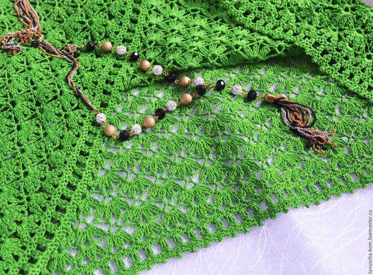 Блузки ручной работы. Ярмарка Мастеров - ручная работа. Купить Блуза крючком молодая зелень. Handmade. Ярко-зелёный