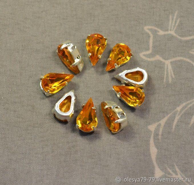 1pc Rhinestones drops 10h6 Czech Topaz in DACs, Crystals, Chelyabinsk,  Фото №1