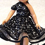 Куклы и игрушки ручной работы. Ярмарка Мастеров - ручная работа Платье со шлейфом  на куклу Паолку и аналоги. Handmade.