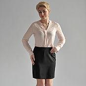 Одежда handmade. Livemaster - original item Office skirt simple stripe. Handmade.