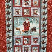 """Подарки к праздникам ручной работы. Ярмарка Мастеров - ручная работа Новогоднее одеяло-покрывало """"Дед Мороз и лесные звери"""". Handmade."""