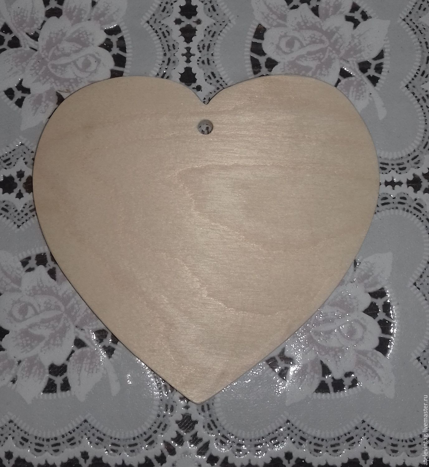 Heart, the workpiece 115, Blanks for decoupage and painting, Tula,  Фото №1