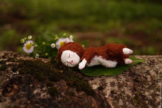 Миниатюра ручной работы. Ярмарка Мастеров - ручная работа. Купить Кукла игрушка Сплюх лесной, 8,5 см. Handmade.