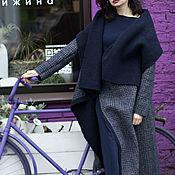 Одежда ручной работы. Ярмарка Мастеров - ручная работа Пальто двухстороннее из шерстяного лодена CELL. Handmade.