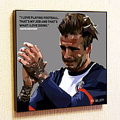 Картины и панно handmade. Livemaster - original item Painting Pop Art David Beckham. Handmade.