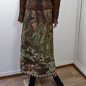 "Одежда ручной работы. Ярмарка Мастеров - ручная работа Валяная теплая  коричневая  расклешенная  юбка ""Chataigne "". Handmade."