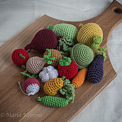 Куклы и игрушки ручной работы. Ярмарка Мастеров - ручная работа Вязаные овощи и фрукты. Handmade.