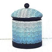 Для дома и интерьера handmade. Livemaster - original item Box of polymer clay - Turquoise gradient. Handmade.