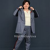 Одежда handmade. Livemaster - original item The costume is a cropped tuxedo pants and jacket. Art. 3468/3455.. Handmade.