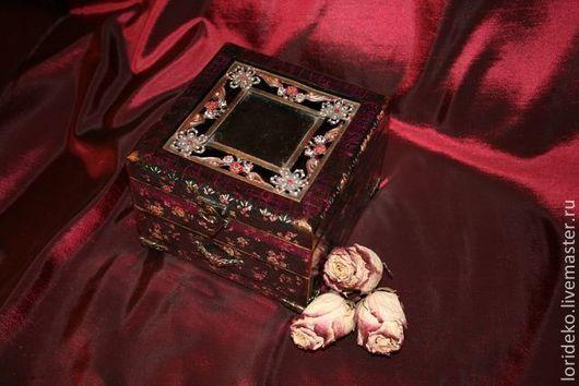 """Шкатулки ручной работы. Ярмарка Мастеров - ручная работа. Купить Шкатулка""""Розы"""". Handmade. Черный, винтаж, для дома"""