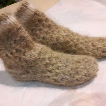 Аксессуары handmade. Livemaster - original item Fishnet socks made of dog down. Handmade.