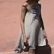 Одежда ручной работы. Ярмарка Мастеров - ручная работа Трикотажное платье с принтом. Handmade.