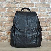 Рюкзаки ручной работы. Ярмарка Мастеров - ручная работа Рюкзак женский кожаный черный. Handmade.